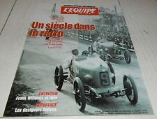 EQUIPE MAGAZINE N°759 1996 SPECIAL AUTOMOBILE 100 ANS FRANK WILLIAMS RALLYE