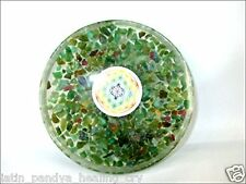 JET Ruby Fuschite Gemstone Orgone Tea Coaster Flower of Life Round 40 Page Book