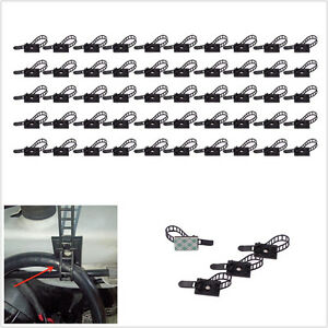 50 Pcs Plastic Car SUV 3M Self-Adhesive Adjustable Clip Fasten Fixed Cable Wire