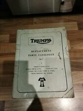 Triumph Replacement Parts Catalogue Twenty-one Speed Twin Tiger 90/100 T100/R/C
