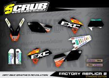 KTM EXC Dekor 125 200 250 300 400 450 525 2005 2006 2007 '05 '06 '07 Aufkleber