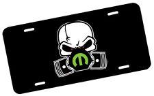 Mopar Skull Mask Green License Plate Automotive .40 Alum. Hi-Quality Full Color