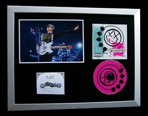 BLINK 182+SIGNED+FRAMED+SMALL THINGS+MISS YOU=100% AUTHENTIC+EXPRESS GLOBAL SHIP