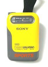 Vtg SONY Walkman Sports  AVLS AM/FM SRF-85 Headphones,New Battery Strap-WORKING