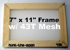 Small A5 screen printing frame with 43T mesh - silk Screenprinting budget cheap