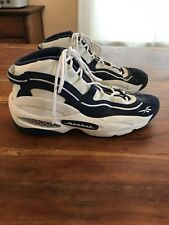 ae32b0b05870fe Mens Vintage 1997 Reebok The Ragin High Top Shoes White Navy Shoes Size 13.5  VV