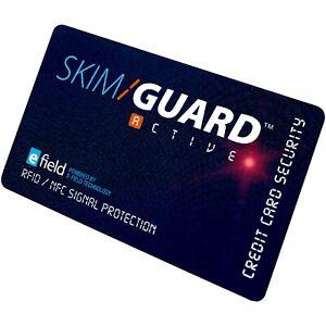 SkimGuard RFID Debit & Credit Card Protector Security Wallet Signal Blocker