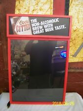 VINTAGE COORS CUTTER LIGHTED MENU BOARD - LIGHTED BEER SIGN - NEW OLD STOCK 1992