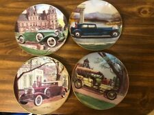 4 Danbury mint collector plates The Golden Age of Motorcars mint