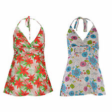 Unbranded Cotton Floral Sleeveless Tops & Shirts for Women