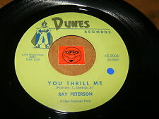 RAY PETERSON - YOU THRILL ME - MISSING YOU  - LISTEN - TEEN POPCORN