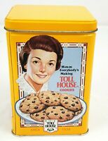 Vintage Nestle Toll House Collector Cookie Yellow Tin Can Circa 1939