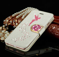 Luxury Diamond Angel Ultra-thin Leather Case Cover for Apple iPhone 6s 6 7 plus