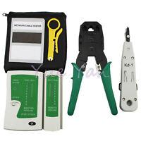 RJ11 RJ12 RJ45 CAT5 Cat6 LAN Handheld Ethernet Network Tool Kit Punch Down tool