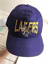 Vintage LA lakers Purple Rare snapback trucker baseball hat cap