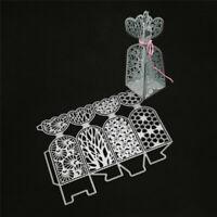 Stanzschablone 3D Tüte Schachtel BOX Weihnachten Geburtstag Hochzeit Karte Album