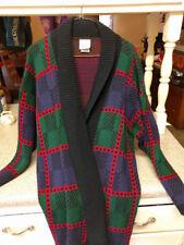 Huntington Ridge Unisex Multi Color Long Sleeve  Cardigan Sweater L Open Front