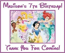 "(9)Personalized Disney Princess Party Stickers, 3"", Bag Labels,Birthday Supplies"