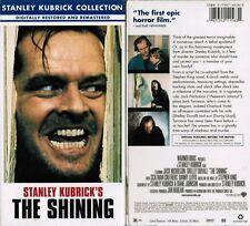 Shining Vhs Video Tape New Jack Nicholson, Shelley Duvall Stanley Kubrick