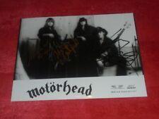 Motörhead - Autograph - signed -  signiert - dedicace - Lemmy (+)