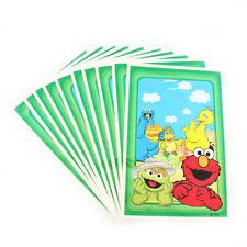 Sesame Street Elmo Big Bird Cookie Monster Kids Birthday Party Bags Loot Bag