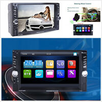 6.6'' Touch Screen 2Din Car Audio Radio Multimedia Bluetooth MP5 Player USB AUX