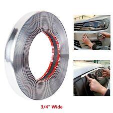 34 Chrome Molding Trim Strip Car Door Window Bumper Protect Amp Embellish 16 Ft