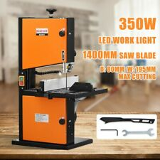 350W Bandsaw Wood Cutting Band Saw Blades Vertical Table w/ LED Work Light