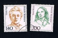 GERMANIA FRANCOBOLLI DONNE CECILE VOGT FANNY HENSEL1989 timbrato (BD1600)
