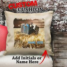 Personalised Tractor Classic Vintage Cushion Custom Canvas Gift NC199