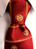 Men's Univers Ties Red Striped Italian Silk Tie A28479
