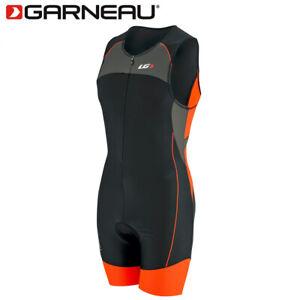 Louis Garneau Comp Triathalon Cycling Body Suit - Grey/Orange - Size Large