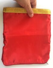 Dove Production Zipper Bag Stage Magic Trick Bird Appearing Red Magician Prop