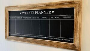 Vintage Wall Mounted Weekly Food Meal Menu Planner Board Chalkboard