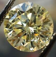 1.00 ct VVS1 6.46 MM FANCY LIGHT YELLOW COLOR ROUND LOOSE REAL MOISSANITE 4 RING