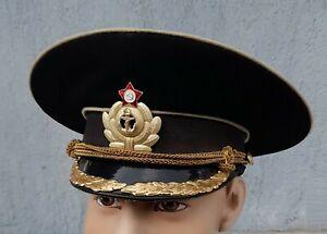 Casquette OFFICIER Marine Navale Soviétique russe URSS T.56  N°344