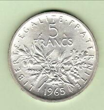 PEU COMMUNE ETAT  5 FRANCS SEMEUSE 1965 a tout son brillant frappe   RARE état