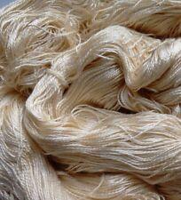 Luxury Maharaja Laceweight Silk Yarn, 120g. Cream. Weaving/Textiles/Crochet/Knit