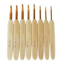 8 Größen Bambusgriff Aluminium Leiter Häkelnadeln Nadeln 2,5 mm-6mm