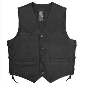 Vest Skin Classic Lace Up Side Lined Buttons Containers Outside Internal