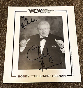 Bobby Heenan Autograph 8x10 Official WCW Promo Photo 1996 To Nicholas