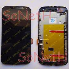 "Touch screen + LCD Display + Frame Motorola Moto G G2 G+1 2nd Gen 5,0"" Nero"