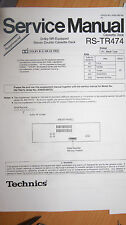 TECHNICS RS-TR474 Manuale di servizio