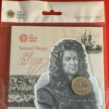2019 BUNC Samuel Pepys £2 Coin Brilliant Uncirculated Royal Mint Two Pounds UK