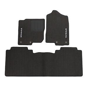 OEM 2016-2021 Nissan Titan Carpet Floor Mats w/o Console 3pc set NEW 999E2-W4002
