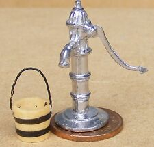 1:12 Scale Non Working Water Pump With A Moving Handle & Bucket Dolls House
