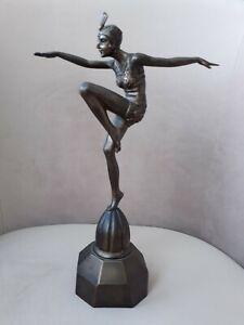Replica Art Deco Style Dancing Girl Figure Statue Past Times