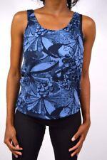 Nouveau! Haut à Bretelles avec Pflanzendruck Ichi Cobri Couleur Bleue - TAILLE