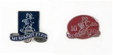 Lot of Two Genuine Vintage M.I. Hummel Club Enamel & Silver Tone Pins