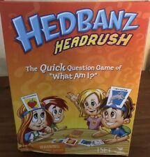 Hedbanz Headrush Board Game 4 Headbands 48 Cards 24 Chips & Timer New Damage Box